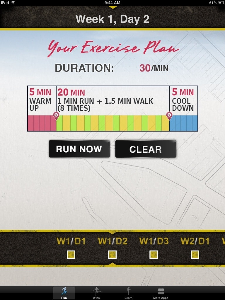 Couch to 5K Week 1, Day 2