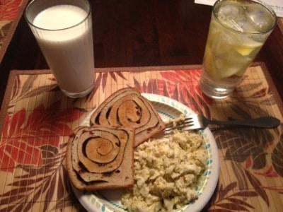 300 Pounds and Running-Breakfast of Champions Meal