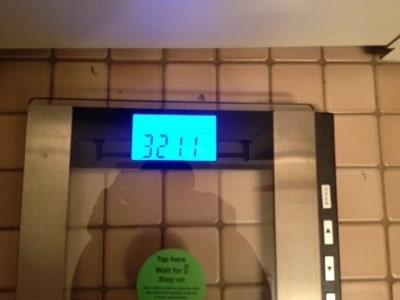 300 Pounds and Running Weigh-in 321.1lbs