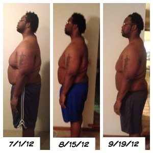 300 Pounds and Running Progress Weigh-in Side