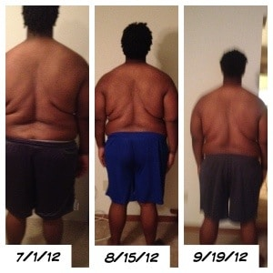 300 Pounds and Running Progress Weigh-in Back