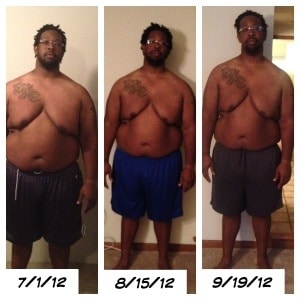 300 Pounds and Running Progress Weigh-in Front