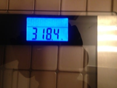 300 Pounds and Runing Weight 318.4