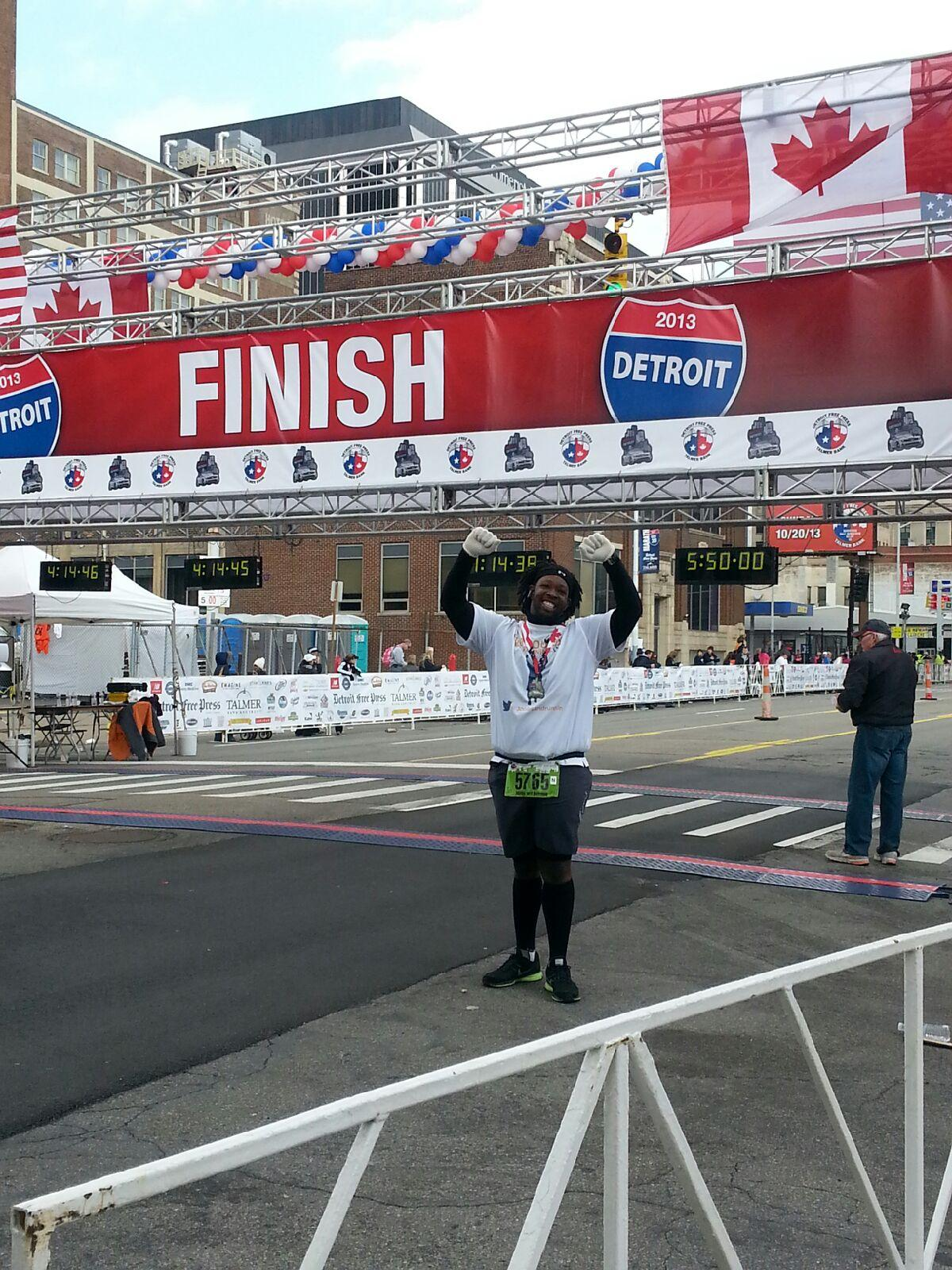 I Am A Detroit Free Press Marathon Finisher!