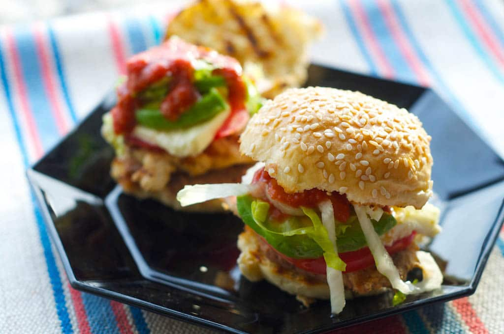 Grilled Chicken Cemitas and Garlic-Chipotle