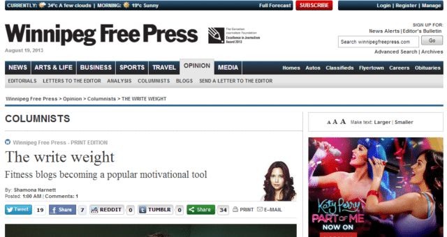 The write weight - Winnipeg Free Press