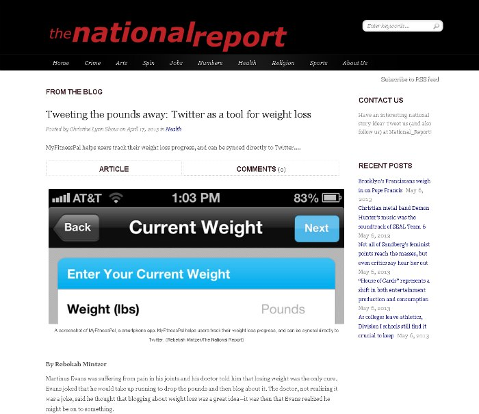 Tweeting the pounds away- Twitter as a tool for weight loss - The National Report